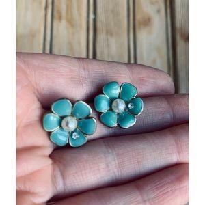 True Vintage Enamel Earrings